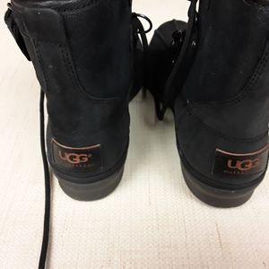 UGG Black Tie Up Azaria Boots Waterproof 7.5